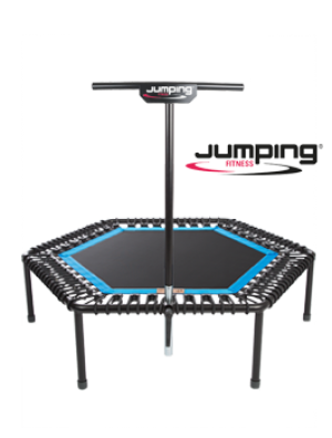 trampolino Bellicon jumping Fitness dotato di barra a T